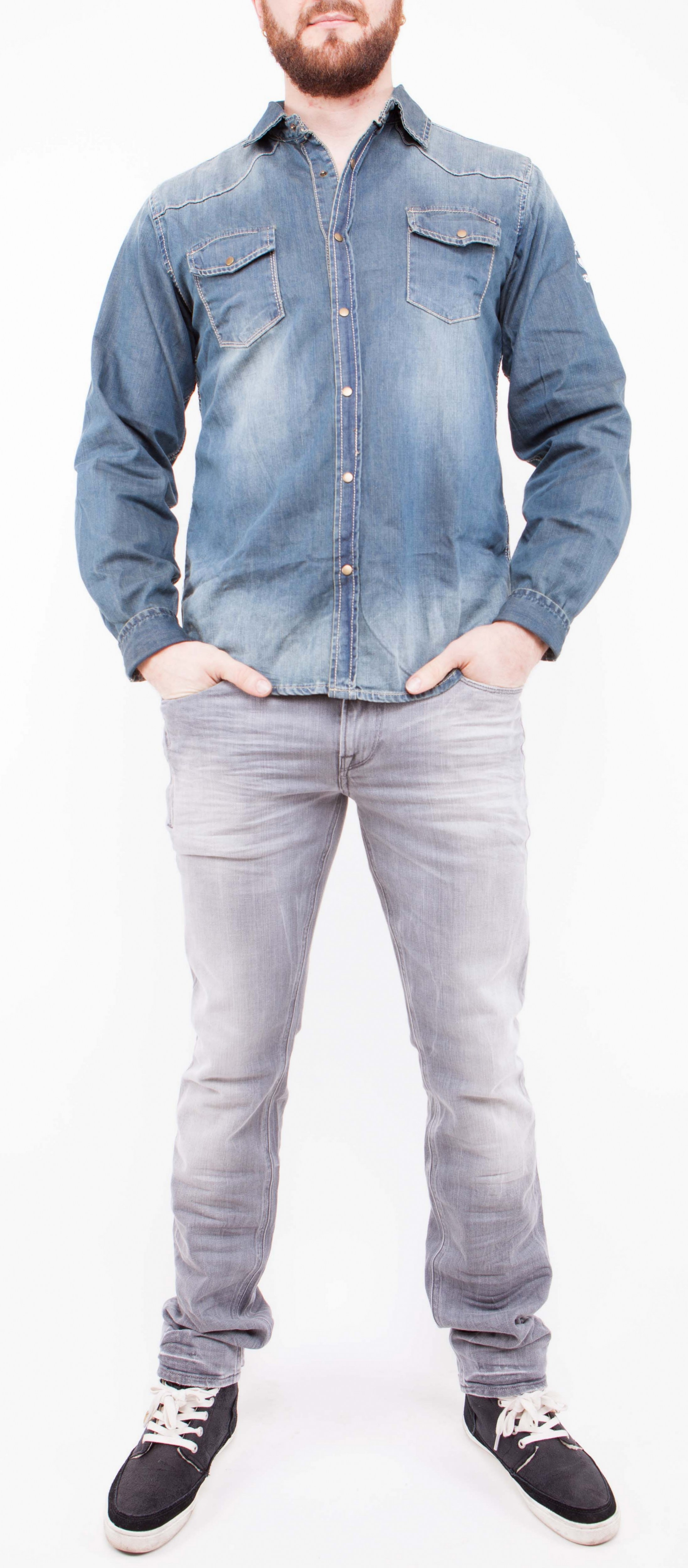 Chemise Jean Longue à chemise jeans - homme - mk bnce - fashion - tendance - qualité
