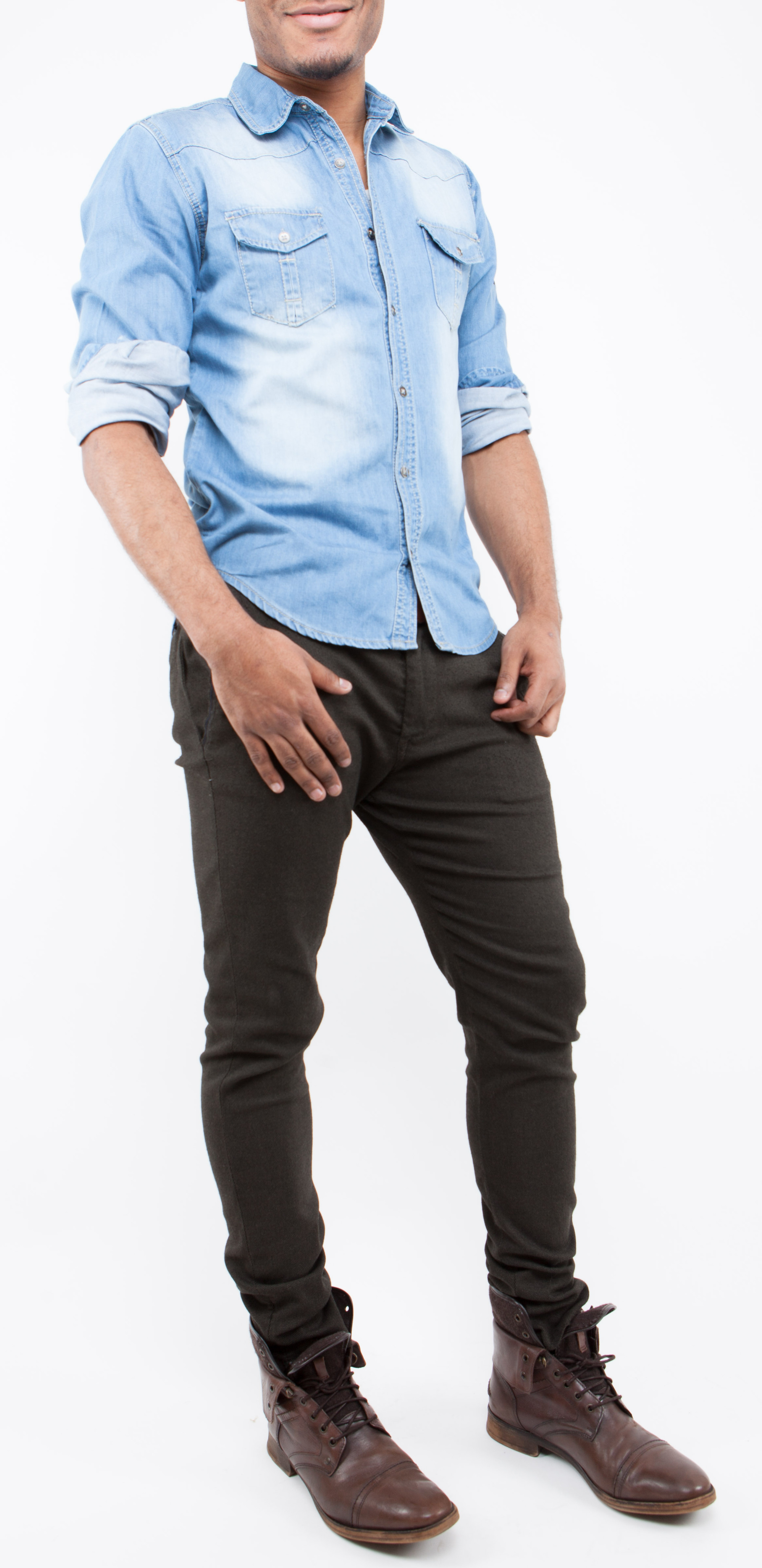Chemise Jean Longue dedans chemise jeans - homme - mk bnce - fashion - tendance - qualité